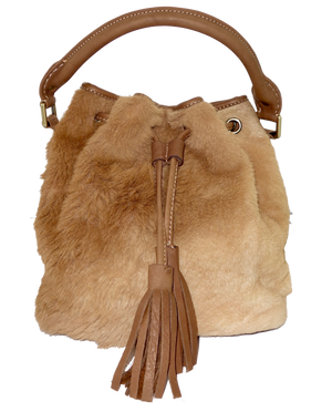 Roo Fur Large Bucket Bag-Leather Bags-Genuine UGG PERTH