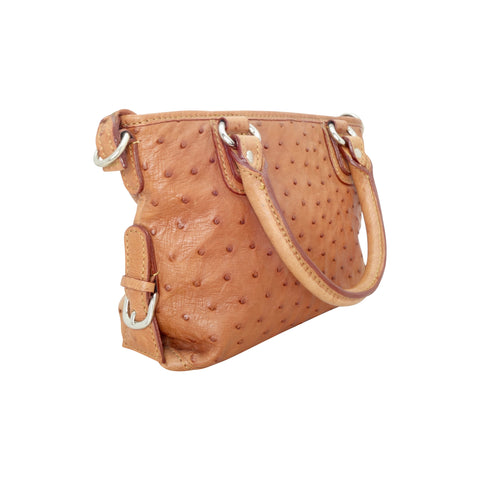 Ostrich Small Handbag - 3 Colours