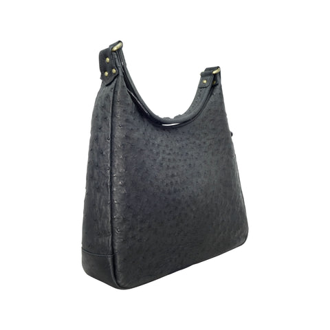 Ostrich Hobo Handbag - 4 Colours