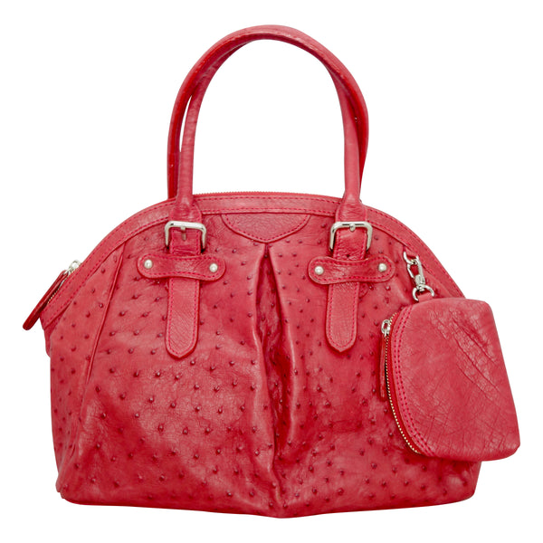 Ostrich Handbag - Red-Handbags-Genuine UGG PERTH