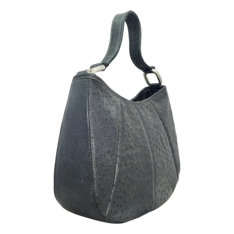 Ostrich Round Hobo Handbag - 4 Colours