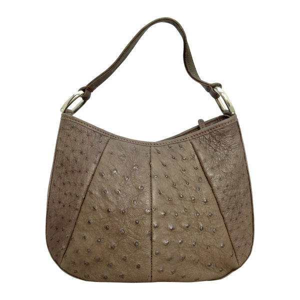 Ostrich Round Hobo Handbag - 4 Colours-Handbags-Genuine UGG PERTH
