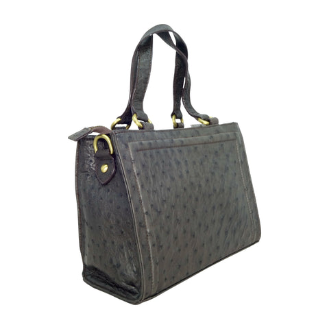 Ostrich Cuboid Handbag - 3 Colours