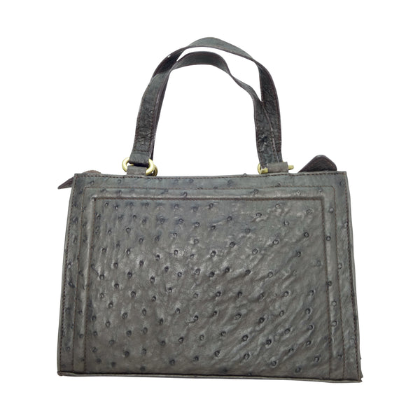 Ostrich Cuboid Handbag - 3 Colours-Handbags-Genuine UGG PERTH