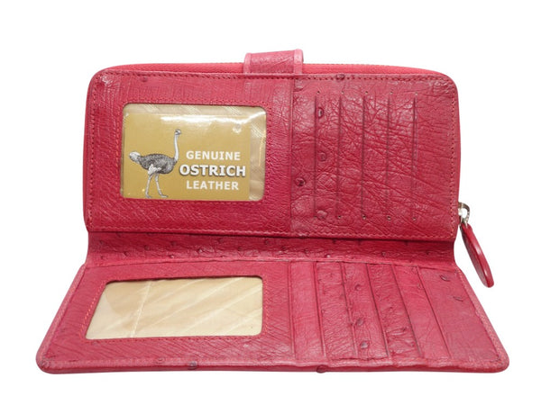 Ostrich Clip & Zip Purse - 6 Colours-Purse-Genuine UGG PERTH