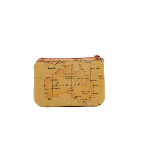 Australia Map Zipper Coin Purse