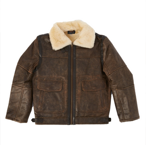 Bomber Jacket - Dark Brown-Sheepskin Jackets-Genuine UGG PERTH