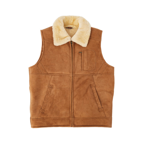 Double Face Suede Vest - Chestnut-Vest-Genuine UGG PERTH