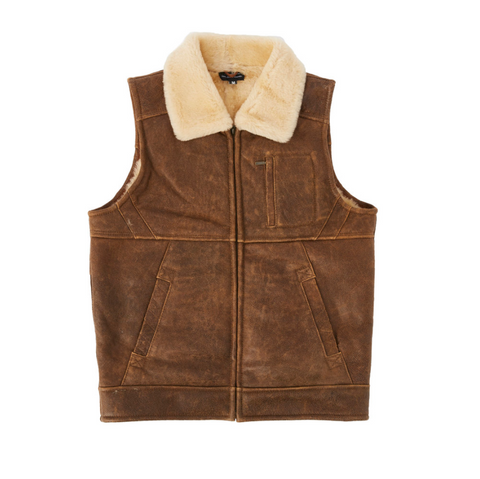 Double Face Nappa Vest - Chestnut