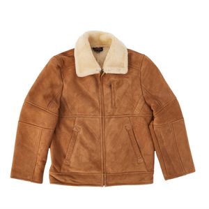 Suede Jacket - Chestnut-Sheepskin Jackets-Genuine UGG PERTH