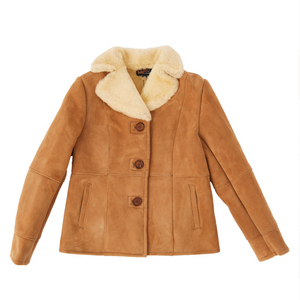 Women's Suede Jacket - Chestnut-Sheepskin Jackets-Genuine UGG PERTH