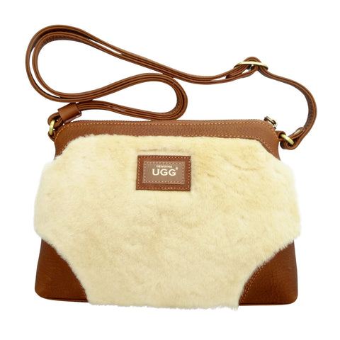 UGG Shoulder Bag - Chestnut-Leather Bags-Genuine UGG PERTH