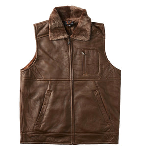 Double Face Nappa Vest - Chocolate-Vest-Genuine UGG PERTH