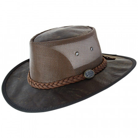 Kangaroo Cooler Hat - Dark Brown-Hats-Genuine UGG PERTH