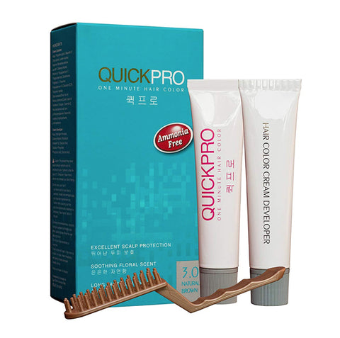 QuickPro 1 min Hair Colour - Natural brown