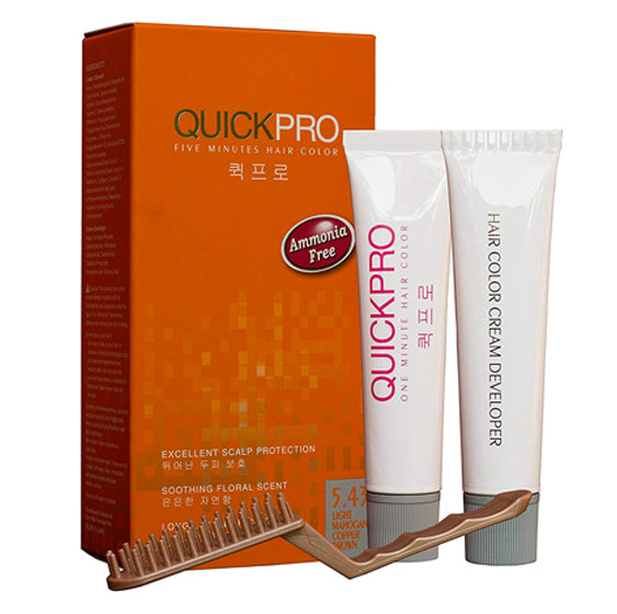 QuickPro 1 min Hair Colour Light mahogany copper brown