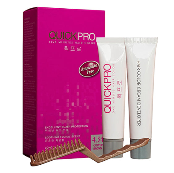 QuickPro 1 min Hair Colour - Copper brownn