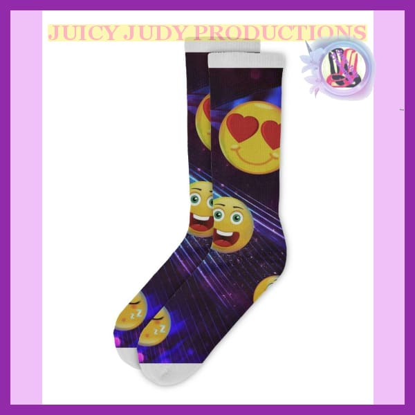 Juicy Judy Socks Collection | Juicy Judy Emoji Socks / juicy-judy-emoji-socks-productions-wichita-kansas-collection - $19.99: