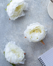 White Peonies Buds - Artificial Flowers