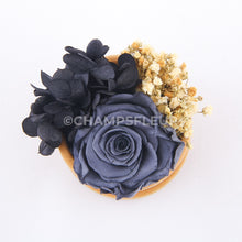 Grey Forever Rose in Suede Flower Box