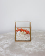 ORANGE Infinity RosesⓇ Arrangement - Verre Carré | Brass Cube Terranium