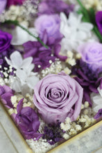 PURPLE Jardin Infinity RosesⓇ Arrangment - Verre Bijoux (HYDERABAD ONLY)