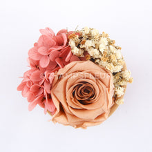 Taupe Forever Rose in Suede Flower Box