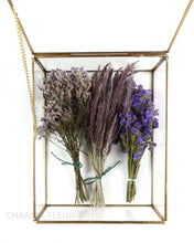 Dried Flowers in Brass Box