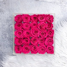 25 Preserved Roses In A Box - Comme Le Verre Classic