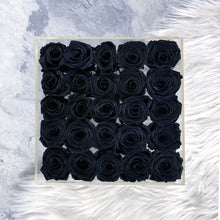 25 Black roses In A Box - Comme Le Verre Classic in Black