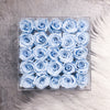 Set of 25 infinity roses placed in an acrylic box