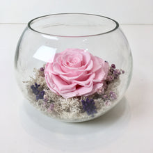 Pink Blush Infinity Rose in a Bowl - Verre Merve - Blush