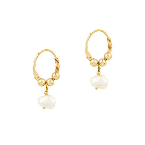 Little Pearl Hoops