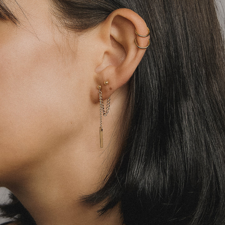 Loop and Drop Earrings