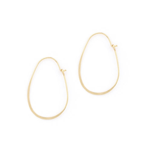 Hammered Oval Hoops