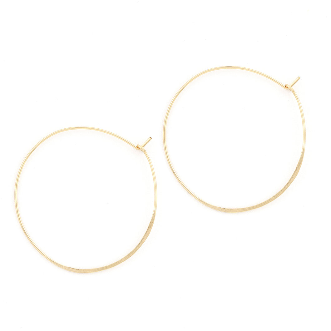 Hammered Round Hoops