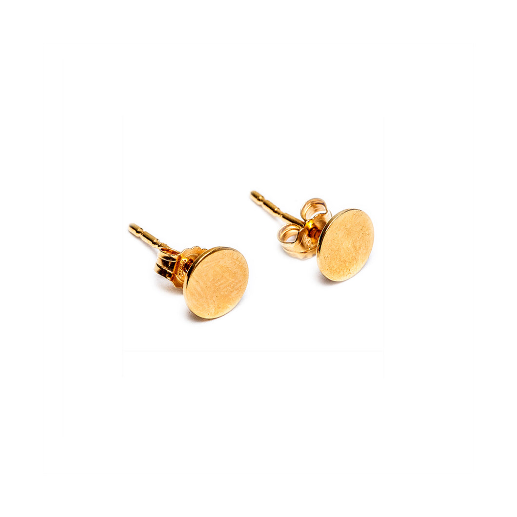 Solid Gold Dot Earrings