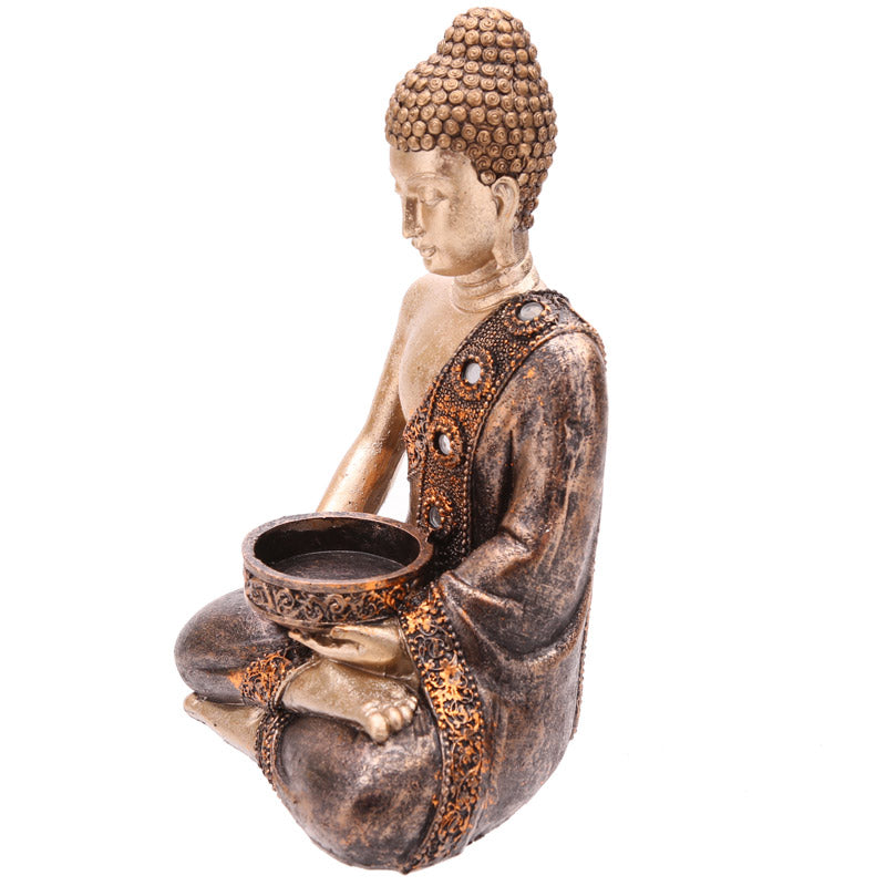 19cm Thai Buddha Figurine Tea Light Holder