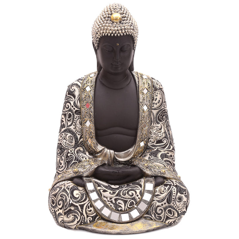 45cm Large Thai Buddha Metallic Figurine