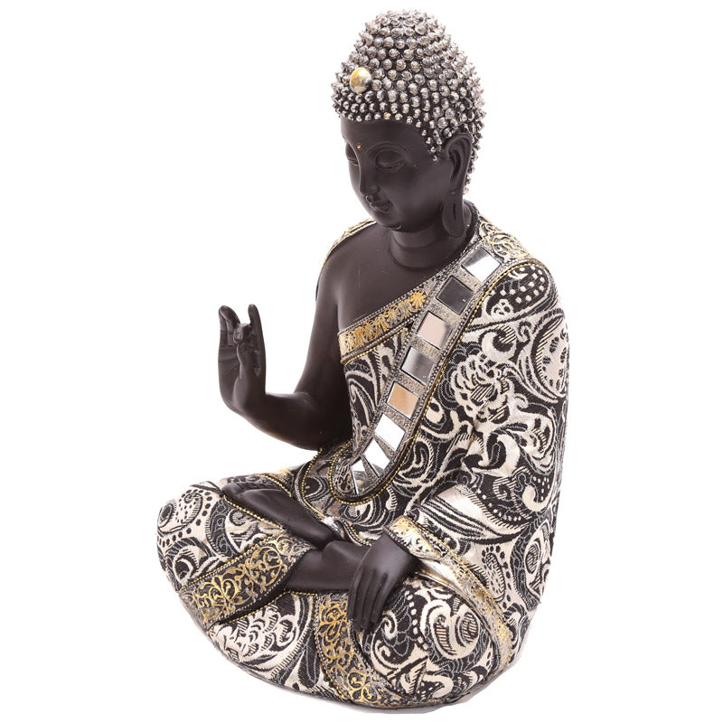 29.5cm Thai Buddha Metallic Figurine with Hand Up