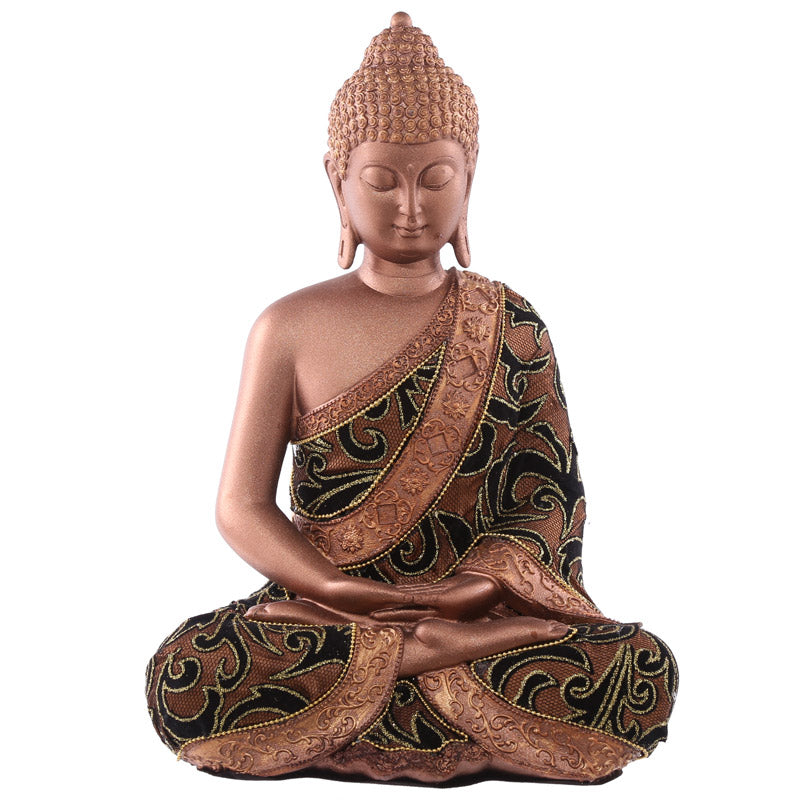 30cm Fabric Effect Decorative Thai Buddha Sitting Large
