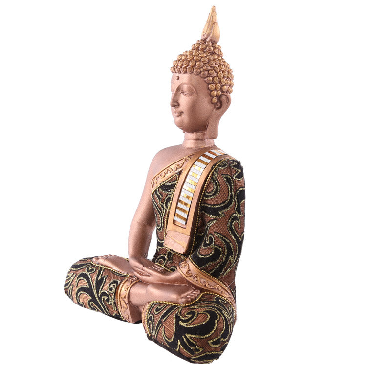 27cm Fabric Effect Decorative Thai Buddha with Sash Large
