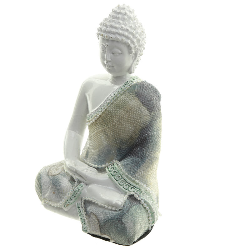 Meditation - Decorative Floral Thai Buddha Figurine