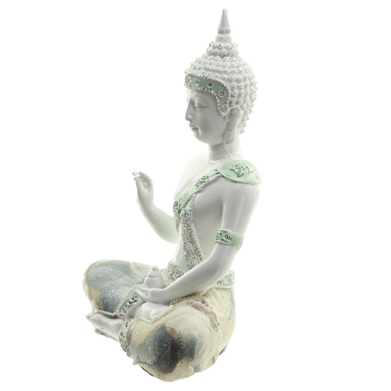 Enlightenment - Decorative Floral Thai Buddha Figurine