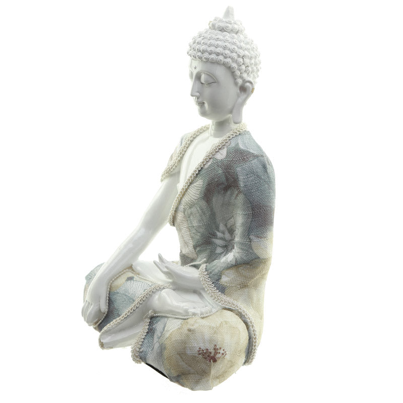 Relaxation - Decorative Floral Thai Buddha Figurine