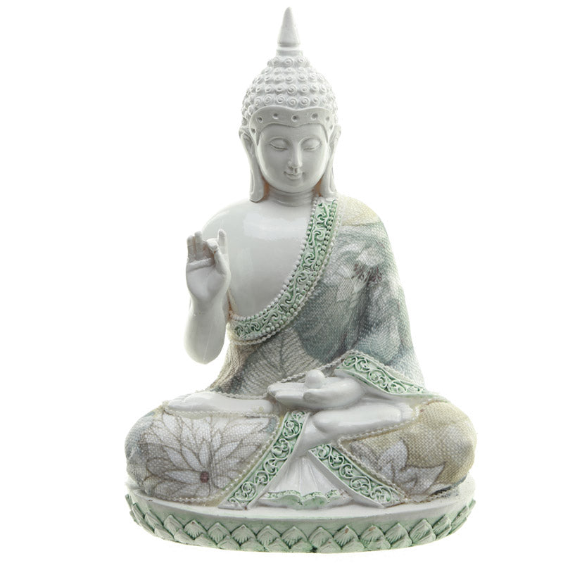 Wisdom - Decorative Floral Thai Buddha Figurine