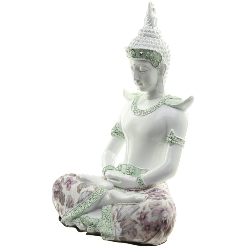 Mindful - Decorative Floral Thai Buddha Figurine