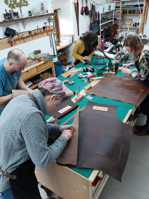 Leather Apron Workshop - learn to hand stitch leather