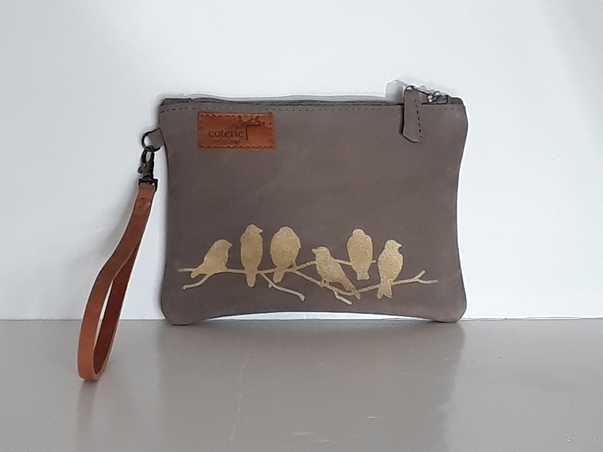 Branching Out Leather Purse - Velvet Grey - Coterie Leather Bags