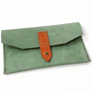 Personalised Cut Edge Clutch Purse - Coterie Leather Bags